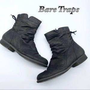 BareTraps Black Fabric Ankle Slouch Bootie 7.5